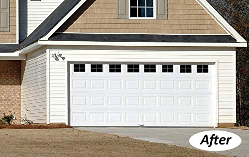 Best Deals! Magnetic Garage Door Windows Decorative Faux Fake Magnetic Window Decals for 2 Car Steel...