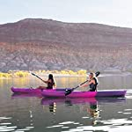 Lifetime Lotus Sit-On-Top Kayak with Paddle 13 Kayak Paddle included. Hull design provides ultra stability and great tracking Multiple footrest positions for different size Paddlers. Includes hard adjustable backrest Scupper holes drain Cockpit area. Molded Paddle cradle. Easy carry handle