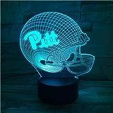 3D Rugby Baseball Golf Serie Kreatives Muster Nachtlicht, Schlaflicht , Illusionslampe, 7 Farbwechsel Dekorative Lichter, Kinderspielzeug Weihnachtsgeschenk Touch Mit Fernbedienung