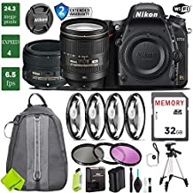 Nikon D750 DSLR Full Frame Camera with 24-120mm VR Lens & Nikon 50mm f/1.4G Lens + 4 Piece Macro Close-Up Set + 3PC Filter Kit (UV FLD CPL) + Tripod + Backpack + 2 Year Extended Warranty