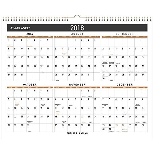 "AT-A-GLANCE Academic Desk Pad Calendar, July 2017 - June 2018, 22"" x 17"", Contemporary (AY24X00) Photo #2"