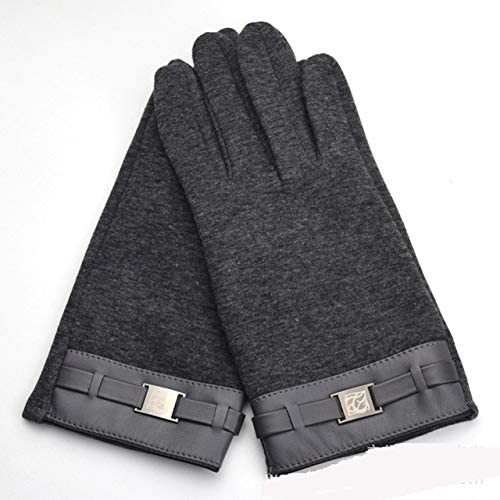 New Winter Men's Full Finger Smartphone Touched Screen Gloves Mittens Casual Solid Color Soft Screen Touch Gloves for Man - (Color: 933874 Grey)