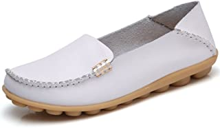 Fashion Brand Best Show Women's Comfortable Leather Loafers Casual Round Toe Moccasins Wild Driving Slip On Flats Fashion Comfortable Shoes