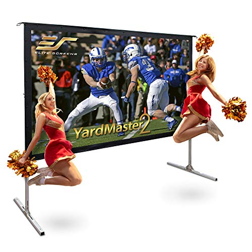 "Elite Screens Yard Master 2, 100 inch Outdoor Projector Screen with Stand 16:9, 8K 4K Ultra HD 3D Fast Folding Portable Movie Theater Cinema 100"" Indoor Foldable Easy Snap Projection Screen, OMS100H2"