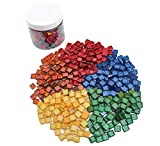 Cheap Glitter Mosaic Gems on Sale, 568g Green Glass Assorted Color Tile Pieces for Mosaic Projects, Mosaic Lizard, Mosaic lamp