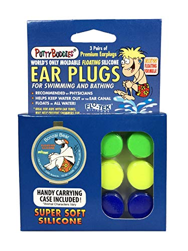 Silicone Surf Earplugs by Putty Buddies