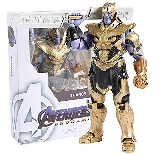 SHF Marvel Avengers Endgame Thanos Figure 18Cm Action Figures In PVC Raccolta Di Giocattoli Modello Come Regali per Bambini