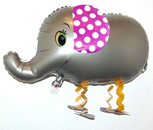 DekoRex ® Airwalker Walking Pets Folienballon, (Elefant grau)