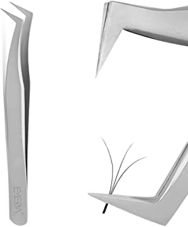 Eyelash Extension Tweezers for Volume Lashes Professional Precision Stainless Steel VETUS Mega Curved Angled Tips Tweezer ...