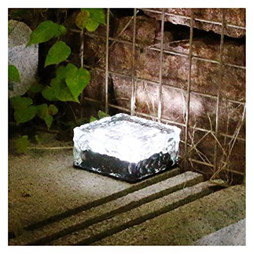 Décorations extérieures Solaire pelouse de jardin lumières de jardin décoratifs cubes de glace à LED lumineux passage passage arrière-plan (Emitting Color : 1pc White)