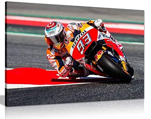 Marc Marquez Moto GP Motorrad Kunstdruck auf Leinwand, 45,7 x 30,5 cm