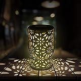 RenFox LED Solar Lantern Farol Solar para Exteriores,...