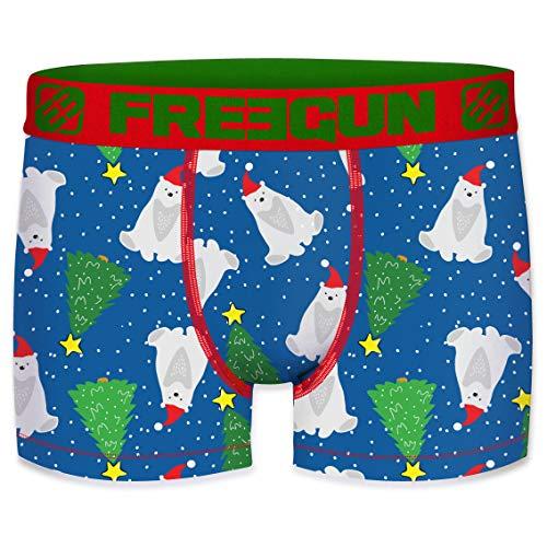Freegun - Calzoncillos para niños, colección de Navidad Ours Polaire 14-16 Años