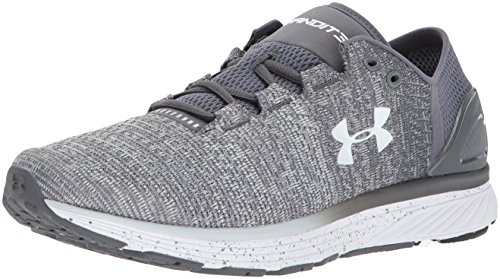 Under Armour Men's Charged Bandit 3-Wide (2E) Running Shoe, Glacier (100)/Rhino Gray, 10.5