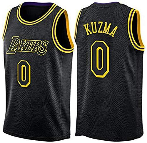XHDH Jersey De Baloncesto De Los Hombres NBA Lakers 0# Kuzma Baloncesto Fan Jerseys Sportswear Hombre Fresco Fresco Tela Transpirable Baloncesto Jersey Chaleco,Negro,M 170~175cm