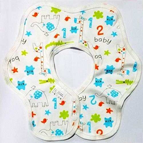 Sccarlettly Living House Baby Bib Petit Casual Bavoir Chic Circulaire 360 Rotation Bavoirs Automne Et Hiver Tissu Salive Double Couche Coton (Couleur A) (Color : C, Size : Size)