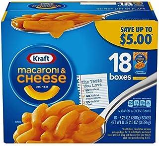 Kraft Macaroni & Cheese, Original Flavor, 7.25 oz, 18 Boxes-SET OF 2