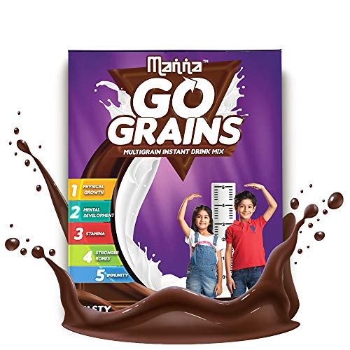 Manna Go Grains - MultigrainDrink Mix - 200g Pack (Chocolate Flavour)