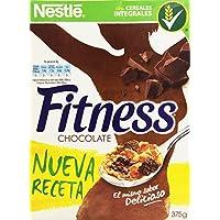 Cereales NESTLÉ Fitness con chocolate con leche - Copos de trigo integral, arroz y avena integral tostados - 1 paquete de cereales de 375g