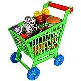 TW24 Kinder Einkaufswagen Spielset 35tlg. Supermarkt Einkaufstrolley mit Zubehör Kaufladen...