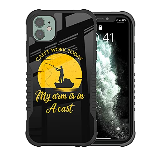 LANJINDENG iPhone 11 Case for Men,Retro Fishing Vintage Fishermen Military Grade Shockproof Anti Scratch Camera Protection Anti-Slip Reinforced Corners Case for iPhone 11 6.1 inch