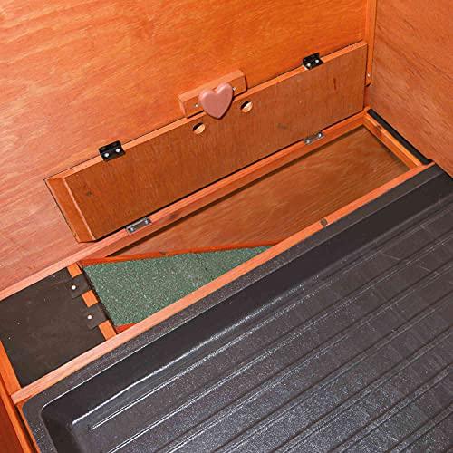 Trixie 62321 natura Kleintierstall mit Freilaufgehege, 124 × 102 × 78 cm, braun