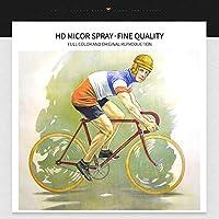 帆布の絵 ヴィンテージサイクリング引用ポスター絵画キャンバスプリント北欧の家の装飾壁アート写真リビングルームフレームレス 50x70cm