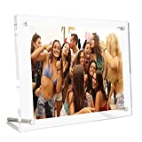 Picture Frame, 8.5X11 Clear Acrylic Photo Frame 4A Letter Size Decorative Poster Frame Desktop Tabletop Display - 1 Pack