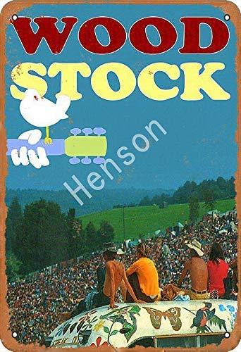 Brandless Woodstock Iron Poster Painting Vintage Placa de metal Arte Pintura de hierro oxidado Manifesto Decoración Aluminio Placa para Hotel