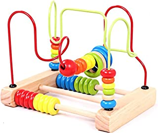 Wooden Activity Cube for Baby Bead Maze Fruits Slide Counting Math Abacus Montessori Sensory Toys Roller Coaster Education...