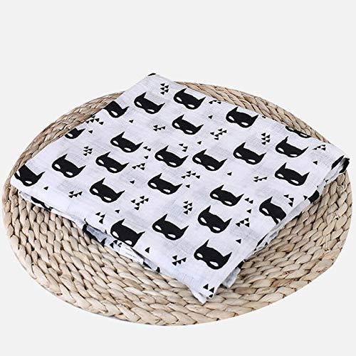 FFDFZD Baby Swaddle Muselina Algodón Multiuso Mantas para bebé Recién nacido Swaddle Muselina Gasa infantil Ambas toallas Baby Warp Batman