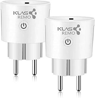 KLAS REMO Enchufe inteligente WIFI Smart Plug, Enchufe Wifi compatible con Amazon Alexa Echo Dot Google Home, Enchufe inteligente Interruptor Programador Inalámbrico Control Remoto - 2PACK