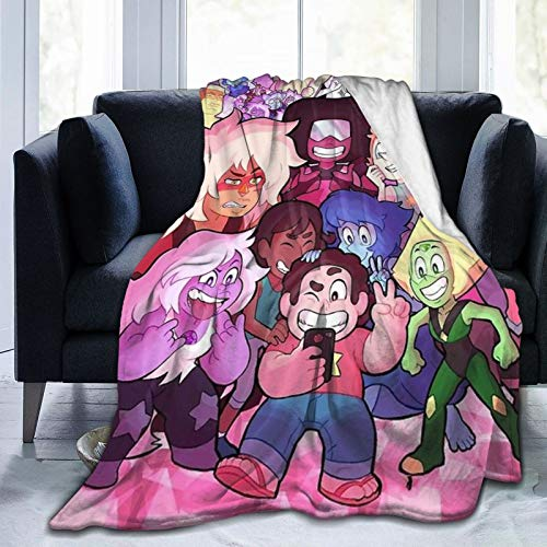 Blanket with Steven Universe Pattern Throw for The Bed Quilt Ultra-Soft Micro Fleece Lightweight Blankets for Kids Adults Comfortable King Size Super Soft Warm Blanket