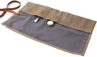 Rouleau de toile cirée pour montres - 5 emplacements - Pochette de rangement pour montres