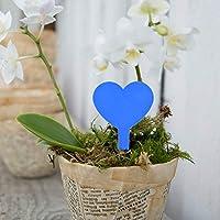 植物ラベル植物タグポットマーカーのハート形の厚いガーデニングツール(blue)