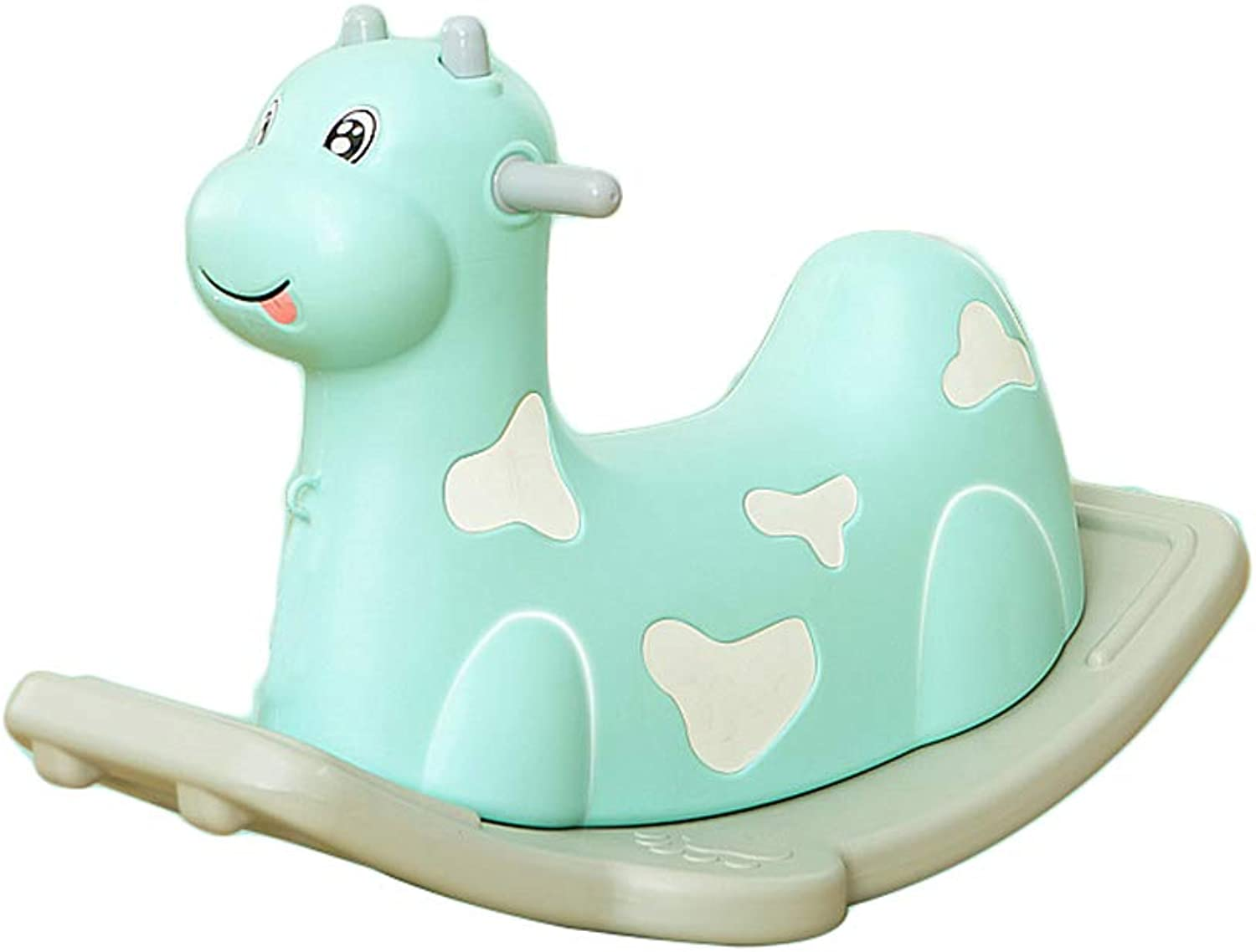 LITING Plastic Rocking Horse Toy Baby Rocking Horse Size Thickening Baby Age (color   Green)