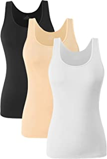 Le Nepho Womens Tank Tops Scoop Neck Tank Tops for Women 4-Pack