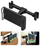 MoKo Headrest Phone/Tablet Car Mount, Adjustable Tablet Holder for 4-11' Devices, Fit with 12 Pro Max / 12 Mini/ 11 Pro Max, iPhone SE, iPad Pro 11, Air 4 3, iPad 7th 8th 10.2, Galaxy S20 6.2' - Black