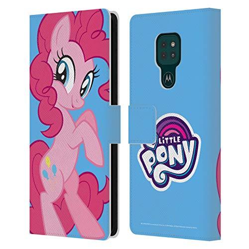 Head Case Designs Licenciado Oficialmente My Little Pony Pinkie Pie Solo Arte del Personaje Carcasa de Cuero Tipo Libro Compatible con Motorola Moto G9 Play