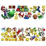FHYT Adesivi Murali Mario,2 Piezas de Decoración de Pared de Mario para Dormitorio Infantil,Decoración de Pared de Mario,Decoración del Hogar(Mario Pattern 3)