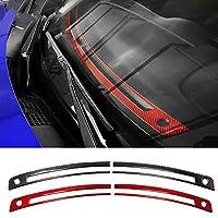 スバルBRZトヨタ86 2013-2020のための車のインテリア炭素繊維ステッカーフロントエアコン通気口ステッカー車のスタイリング (Red)