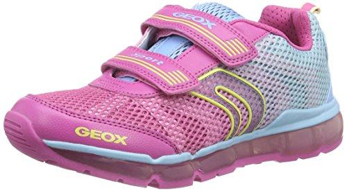 Geox Geox Mädchen J Android Girl A Sneaker, Mehrfarbig (FUCHSIA/SKYC8328), 34 EU