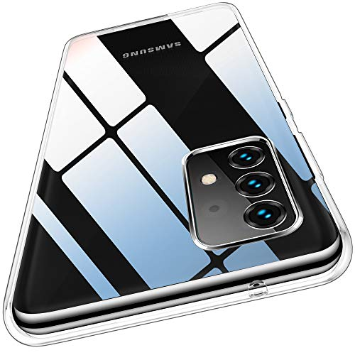 QITAYO Carcasa transparente compatible con Samsung Galaxy A52/A52 5G, 1,2 mm de grosor, carcasa trasera de silicona flexible, delgada y suave TPU de silicona a prueba de golpes para Samsung Galaxy A52