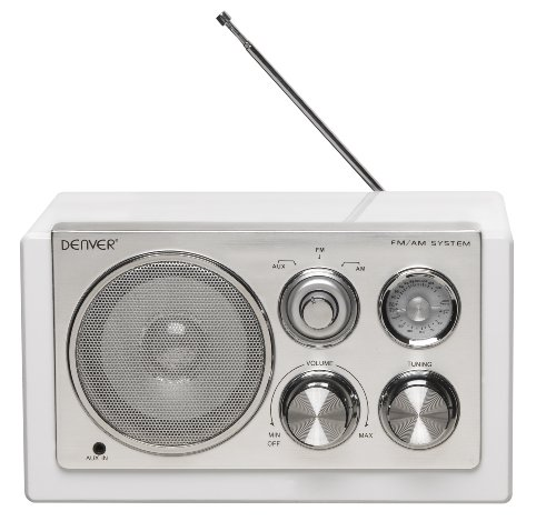Denver TR-61 Tischradio (AUX, MW, UKW) weiß