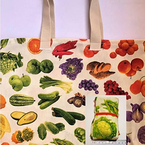 Bolsa de tela fruta y verdura plegable