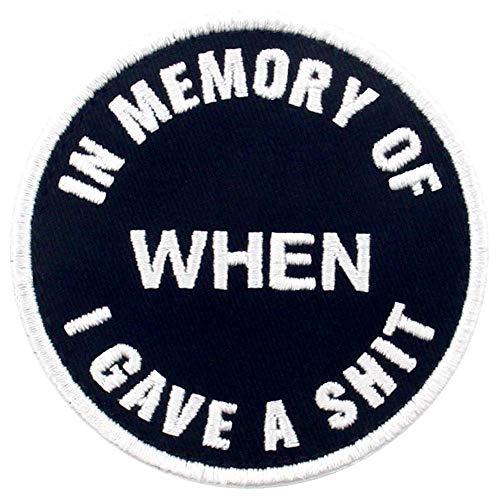 En memoria de cuando di una mierda Broche Bordado de Gancho y Parche de Gancho y bucle de cierre ✅