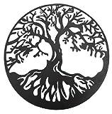 Bellaa 20230 Tree of Life Metal Wall Art Hanging Garden Sculptures 24 inch