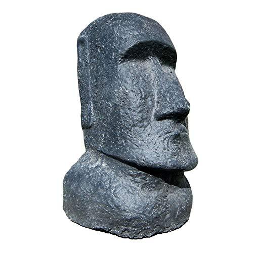Seestern Sportswear Moai 1887 - Figura decorativa de isla de Pascua (30 cm, piedra fundida, para interior y exterior)
