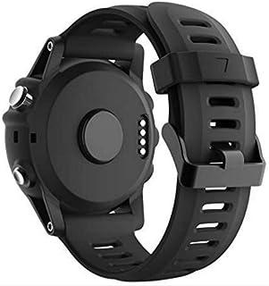GT Watch Strap for Garmin Fenix 6X/6X Pro, Fenix 5X/5X Plus, Fenix 3/3 HR Accessories, QuickFit 26mm Width Band - Black