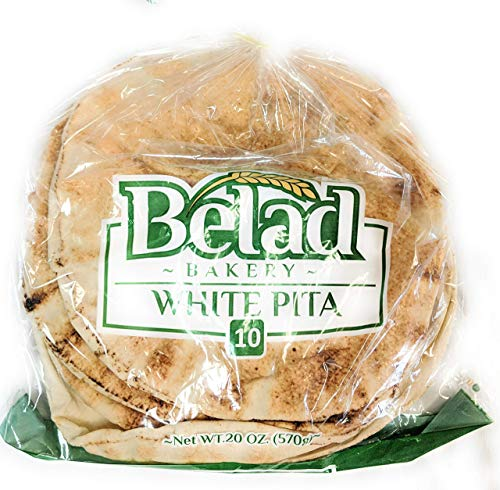 Belad Bakery White Pita Bread (2 Count - 20 loaves)